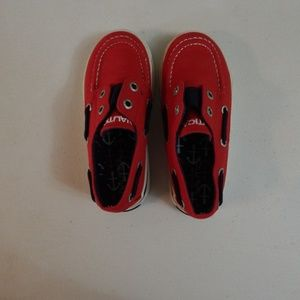 Red Nautica Boat Shoes Toddler Size 9